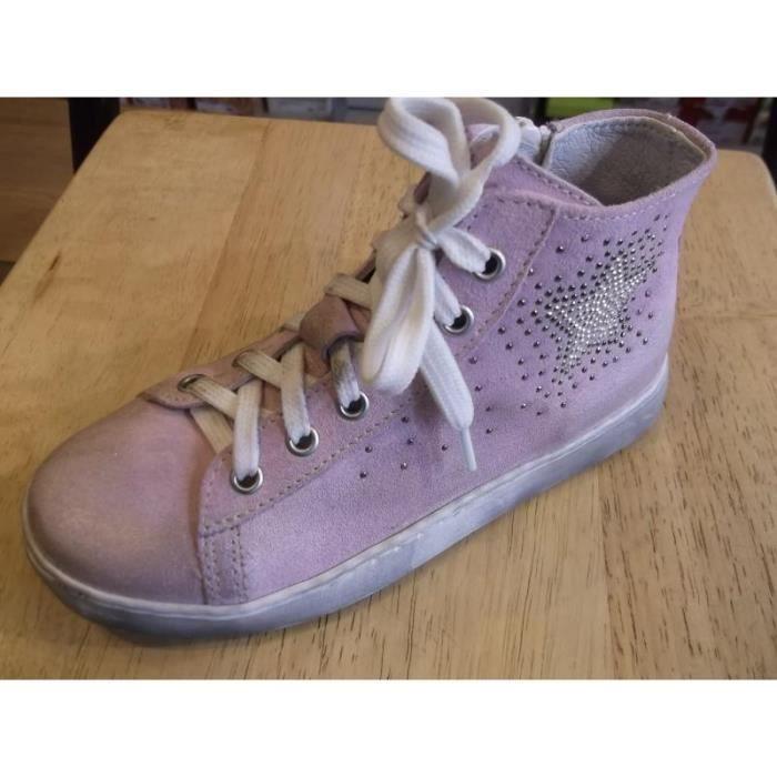 Chaussure enfants. Baskets cuir filles BIKEY P27 saiEwK7mAb