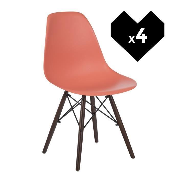 Design Scandinave Ims Lot Corail Utzopkxi Bois Chaises Foncé De Achat 4 tCxdQrsh