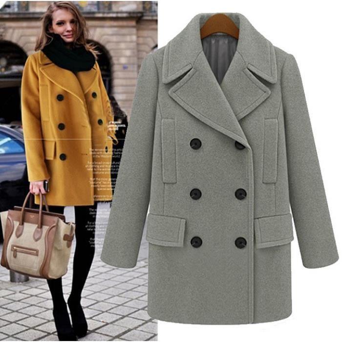 Manteau femme grande taille en laine