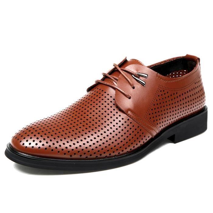 Derby 2017 Le printemps et l'été en plein air hommes chaussures en cuir décontractée Ip23DAN9