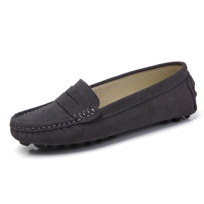 Suede Casual cuir Driving Mocassins Slip-on Penny Mocassins Chaussures bateau Flats LDZB6 Taille-39 LJt6LHc1F