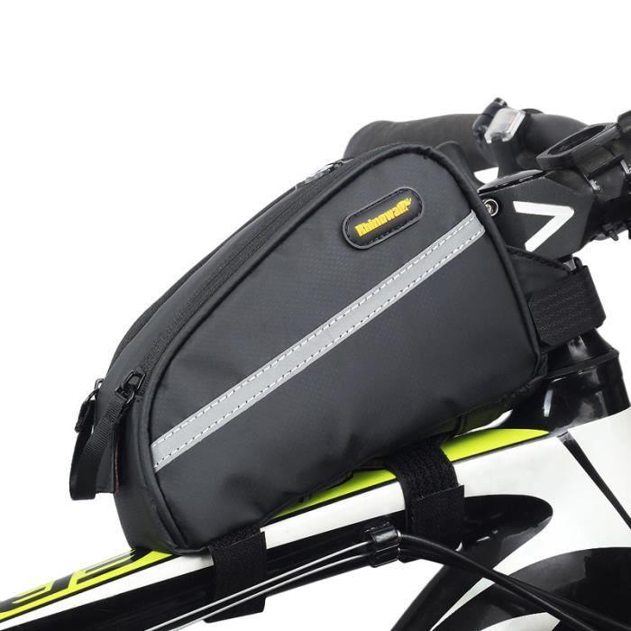 6fc460256a RHINOWALK Sac de tube superieur impermeable a velo Sacoche de velo de  montagne Pack de sac de velo de route Sac de triathlon de velo