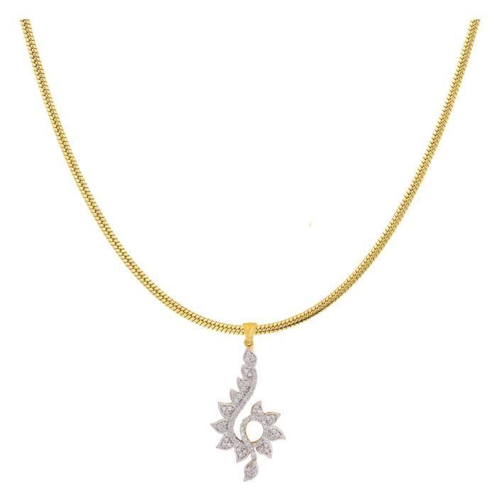 Femmes plaqué or Charm Ensemble pendentif floral pour Nl1101106g LSKUE