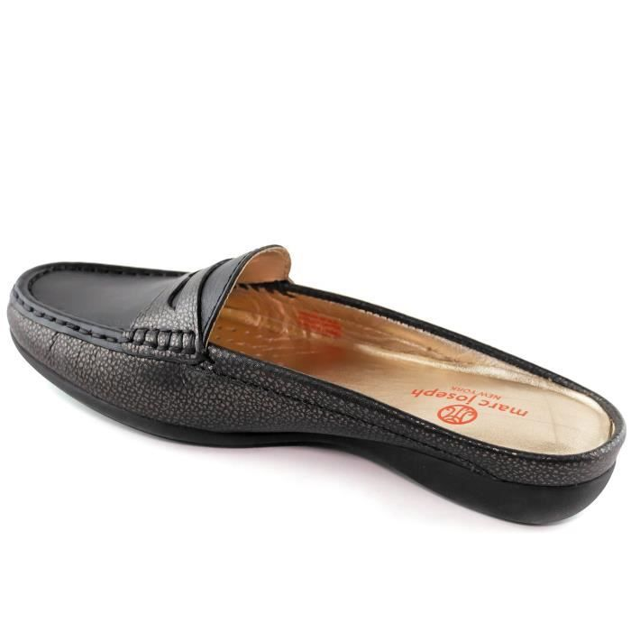 Women's Genuine Leather Made In Brazil Casual Union Mule Slip-on Marc Joseph Ny Fashion Shoes DOHWN Taille-40 1-2
