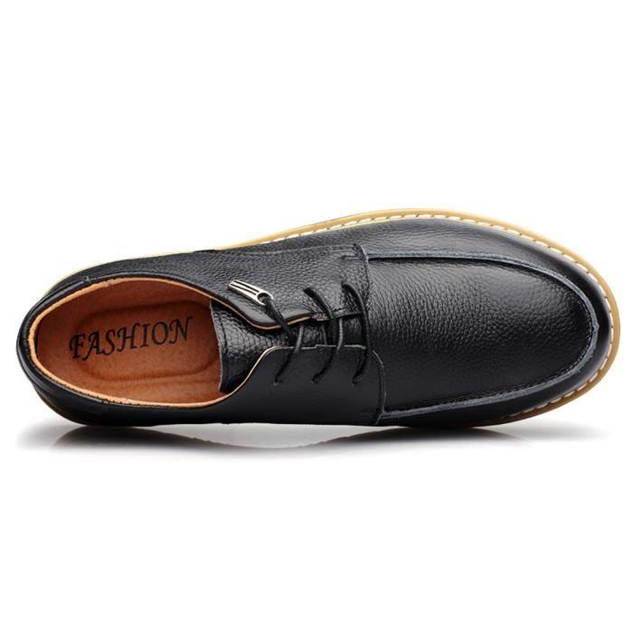 hommes occasionnels en cuir véritable chaussure...