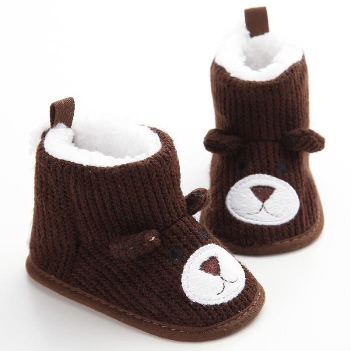 Nouveau Hiver Chaussures de bébé Mignon Loisirs Garde au chaud Fond mou Bébé Bottes de neige MEPalCm