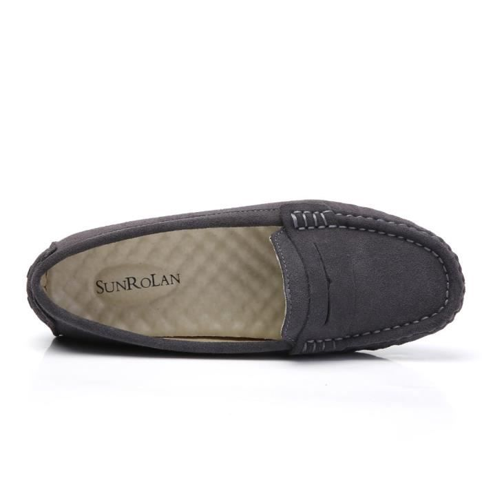 Suede Casual cuir Driving Mocassins Slip-on Penny Mocassins Chaussures bateau Flats LDZB6 Taille-39 m0Jd5y