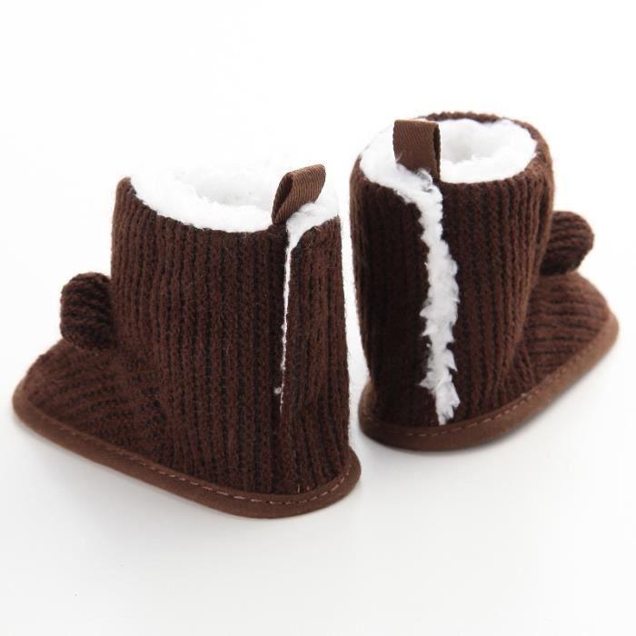 Nouveau Hiver Chaussures de bébé Mignon Loisirs Garde au chaud Fond mou Bébé Bottes de neige G32EHxZ9