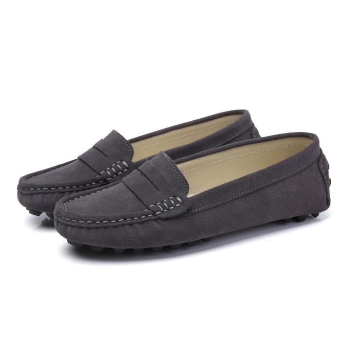 Suede Casual cuir Driving Mocassins Slip-on Penny Mocassins Chaussures bateau Flats LDZB6 Taille-39