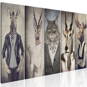 TABLEAU - TOILE Tableau - Animal Masks I - 225x90
