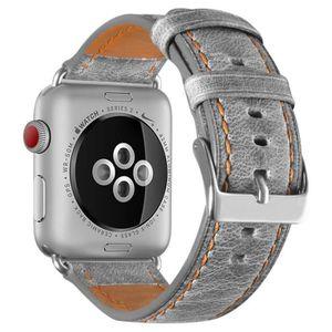 MONTRE Apple Watch Band, 40mm 38mm Bracelet cuir de luxe