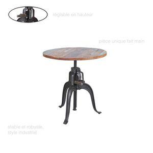 TABLE À MANGER SEULE Table ronde industrielle, Table Vintage, Table ron