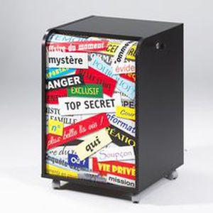 CAISSON DE BUREAU  Caisson de bureau Top Secret 2 tiroirs contemporai