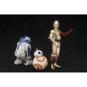 FIGURINE - PERSONNAGE 3 Figurines Star Wars C-3PO, R2-D2 et BB-8 échelle