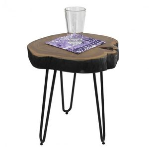 TABLE D'APPOINT Table d'appoint ronde 30 x 30 cm avec un plateau e
