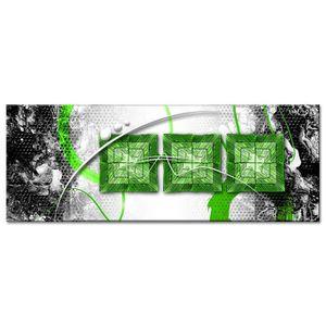 TABLEAU - TOILE Tableau Déco Moderne Déco Abstraite Trio de Carrés