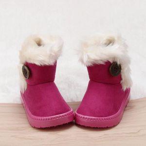Minetom Couleur Contraste Bottes Bébé Fille Chaussures Mode Enfants Bootie Martin Bottes De Neige Occasionnel Hiver Shoes wNFlG