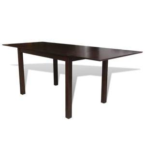 TABLE À MANGER SEULE Table de salle à manger extensible Bois d'hévéa Ma
