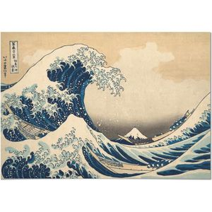 TABLEAU - TOILE Panorama® Dibond Aluminium Hokusai La Grande Vague