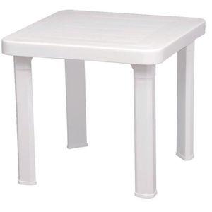 table de jardin en plastique - achat / vente pas cher - cdiscount