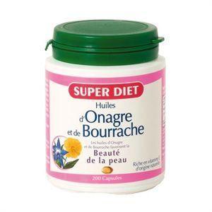 BEAUTÉ DE LA PEAU Super Diet Huile d'Onagre - Bourrache 200 Capsules