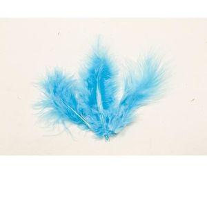 Décors de table (2 Lots de 20) Plume bleu turquoise - REF DEC352 0642721476f
