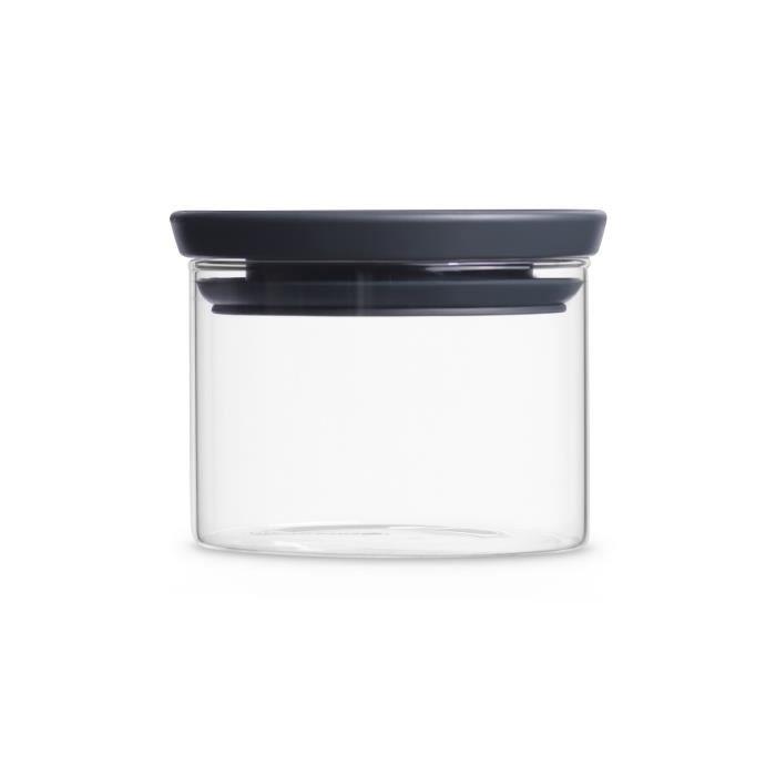 BRABANTIA Bocal en verre empilable 298301 0,3L gris foncé