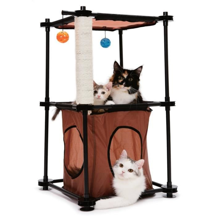 KITTY CITY Tour - Aire de jeux 79x45x45cm - Pour chat