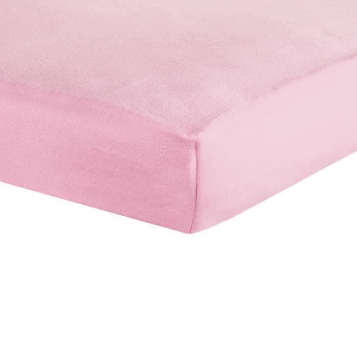TROIS KILOS SEPT Drap housse - 70x140 cm - Rose