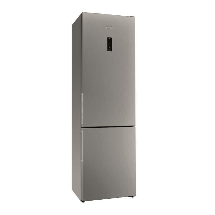 WHIRLPOOL WNF8T2OX-NEW Réfrigérateur congélateur bas - 338 L (234 L + 104 L) - Total NoFrost - Classe A++ - L60 x H189 cm - Inox