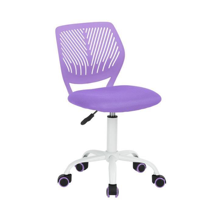 chaise bureau enfant violette achat vente chaise bureau enfant violette pas cher cdiscount. Black Bedroom Furniture Sets. Home Design Ideas
