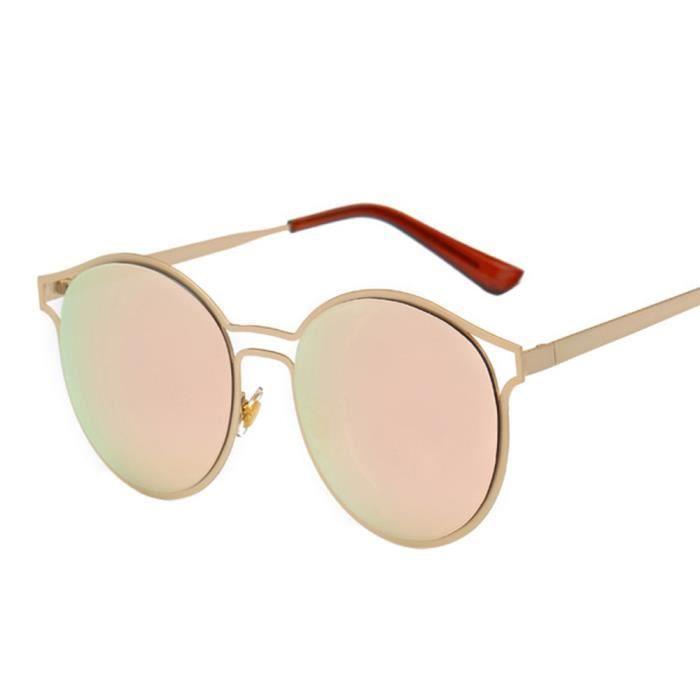 lunettes Aviator lentille Femmes de hommes soleil miroirRE lunettes mode rétro de Vintage unisexe qWROt