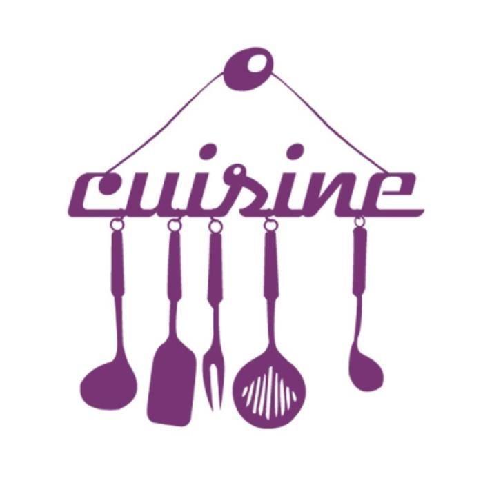 purple cr ative stickers muraux pour cuisine d coration la maison fond d 39 cran achat vente. Black Bedroom Furniture Sets. Home Design Ideas