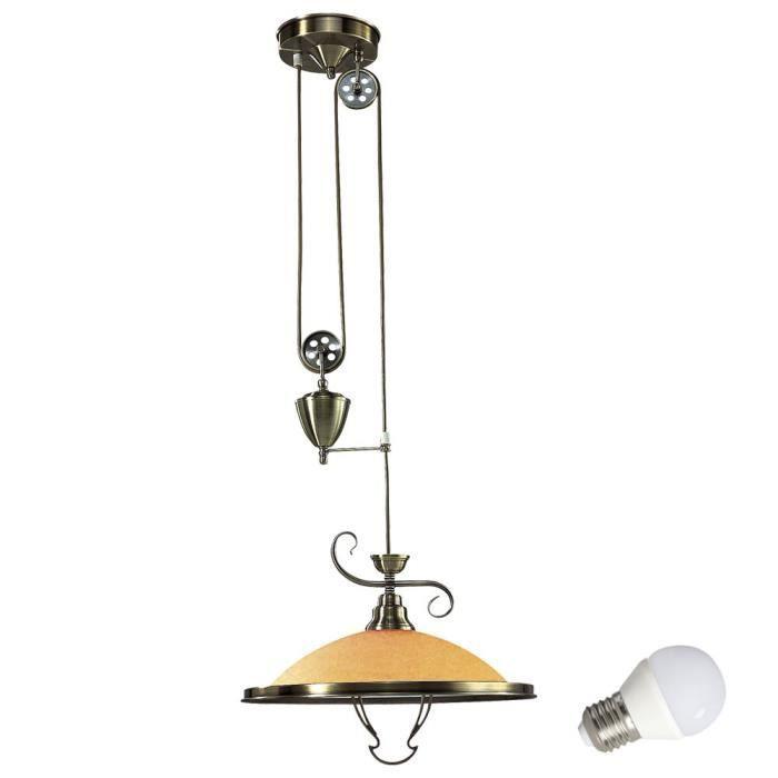 Antique Suspension 5 6 W Plafond Lampe Lustre Luminaire Laiton Led F1T3JlKc