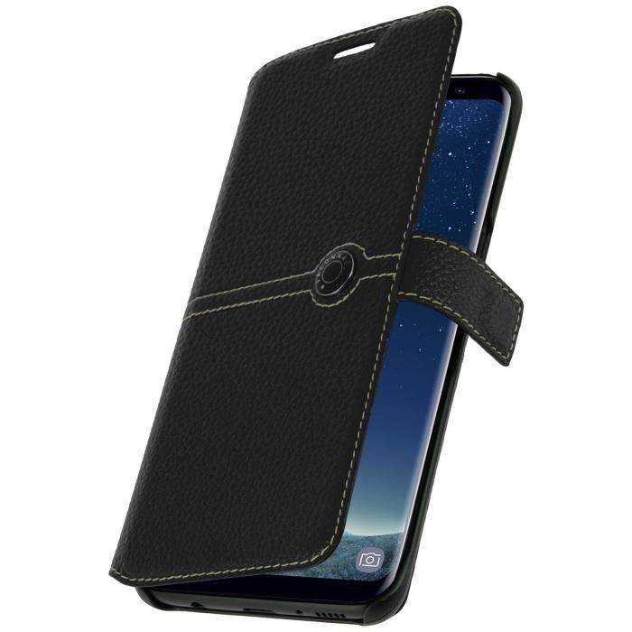 Housse Clapet Portefeuille Façonnable Galaxy S8 - Noir - Achat ... 6872af709e70