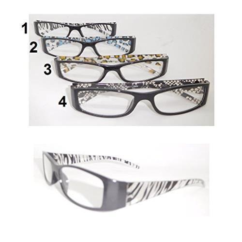 10526f20a2 Paire lunette de lecture +1.00 Loupe Grossissante Mod1 Zèbre Noir - 757