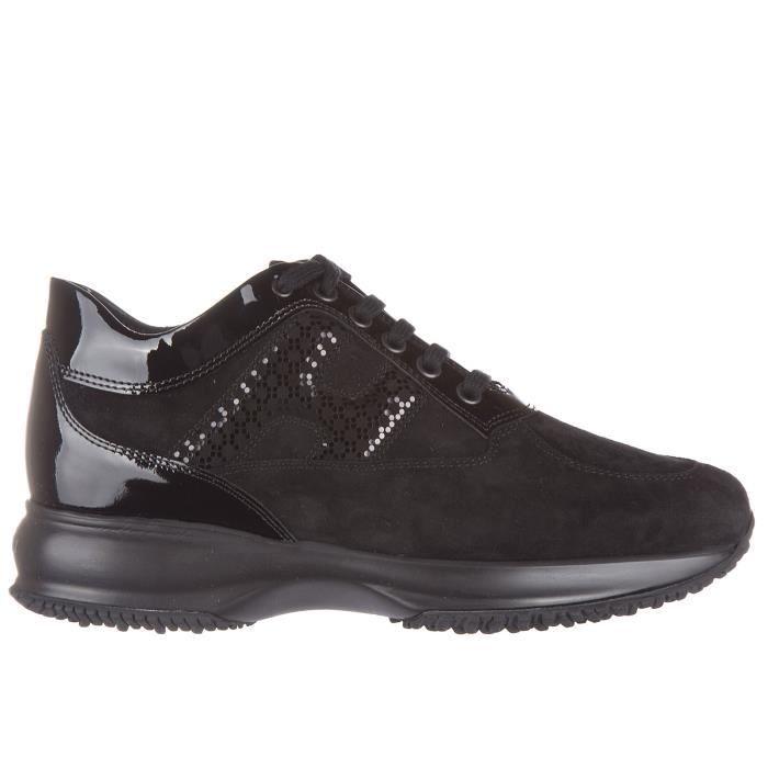 Chaussures baskets sneakers femme en daim interactive lavorata h laminata Hogan UcZTFqUl