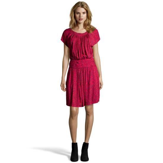 8d8fdfb2090cf SEE BY CHLOE Robe, motif géométrique corail et rouge Rose Corail ...