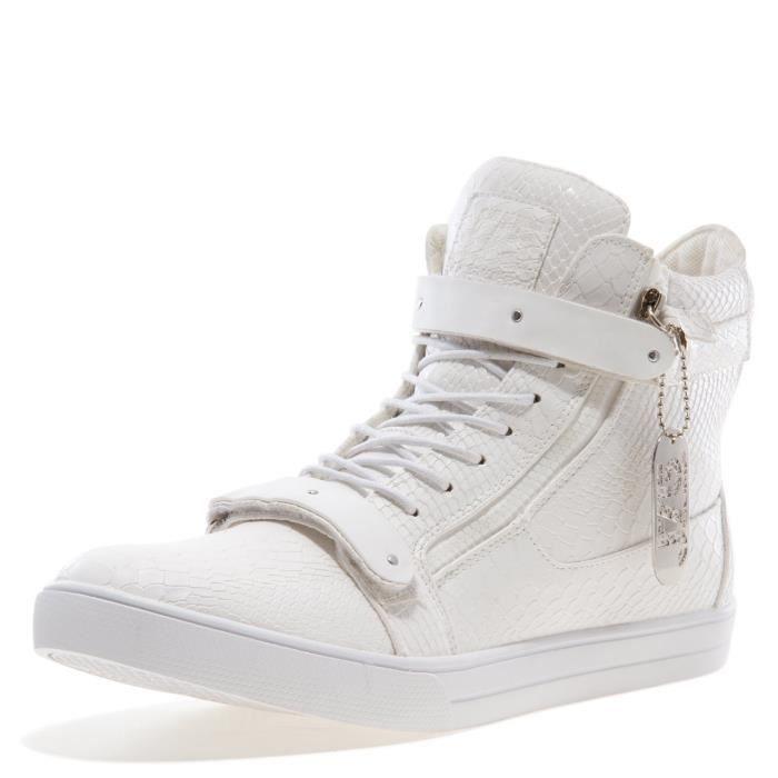 J75 ronde hommes Zion Toe strass Bracelet à lacets haut-top Sneaker ZA466 Taille-44 1-2