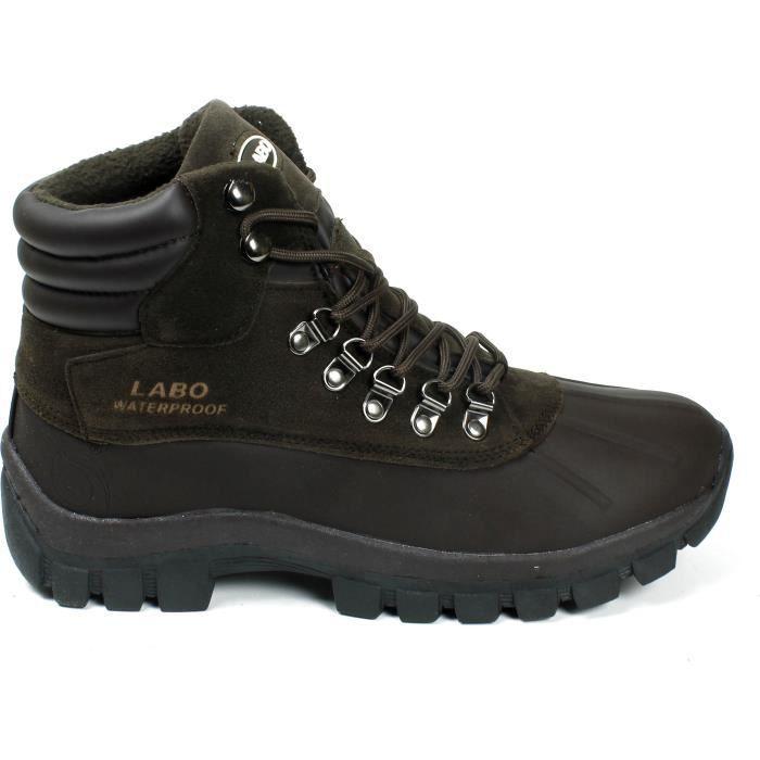 Bottes d'hiver LABO neige Chaussures lacées isolé (d, m) Ci602 W2YE4 Taille-38 1-2