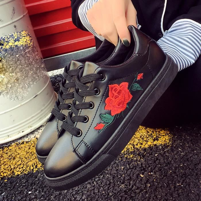 Courroies de sport de mode sangles de course à pied broderie fleur chaussures