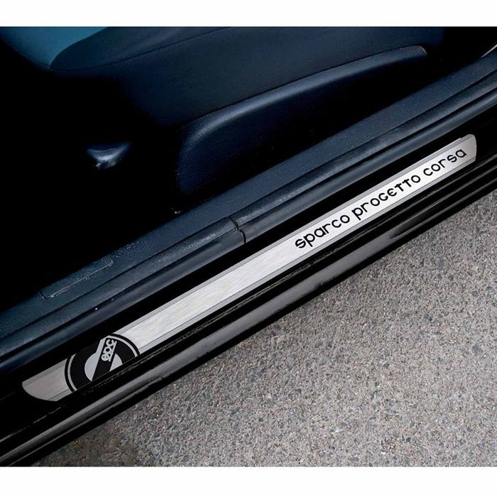 sparco 2 seuils de portes 650x40mm achat vente porti re de voiture seuils de porte 605 x. Black Bedroom Furniture Sets. Home Design Ideas