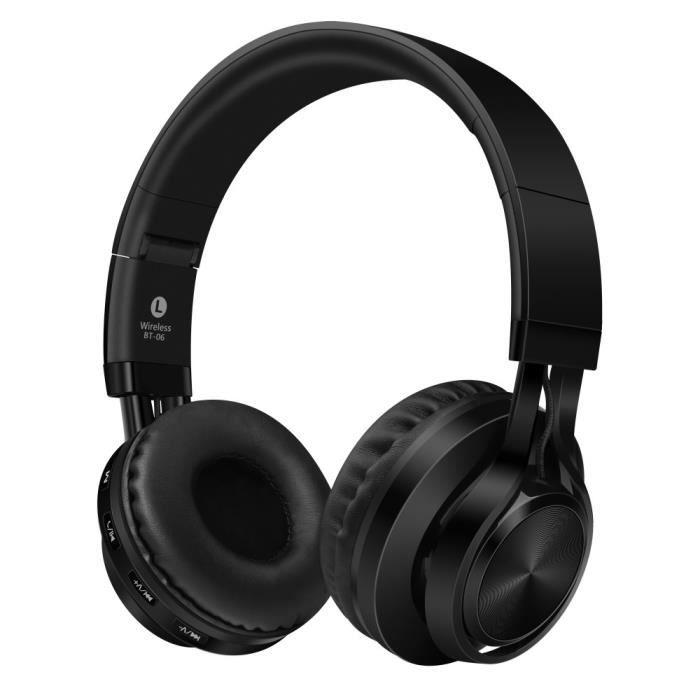 Sound Intone Bt-06 Sur-oreille Sans Fil Bluetooth 4.0 Casque Stéréo Pliable Avec Microphones Intégrés Casques Musique -noir