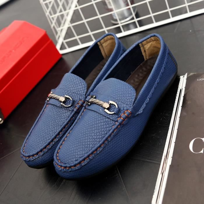 simple Driving en Chaussures Souliers Hommes Mode Chaussures Chaussures Mocassins Flats véritable Hommes cuir Flats homme Oxford RA1wg