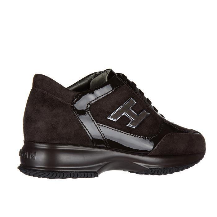 Chaussures baskets sneakers femme en daim interactive h flock altraversione Hogan