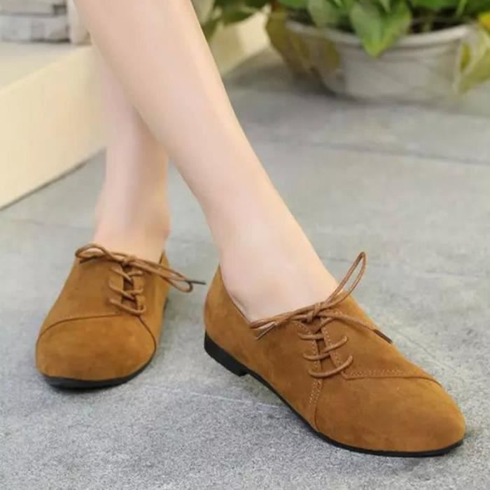 XZ639D6XZ639D6Femmes Sexy Casual Lace Up Toe Pointu Beach Party Mocassins Appartements Chaussures