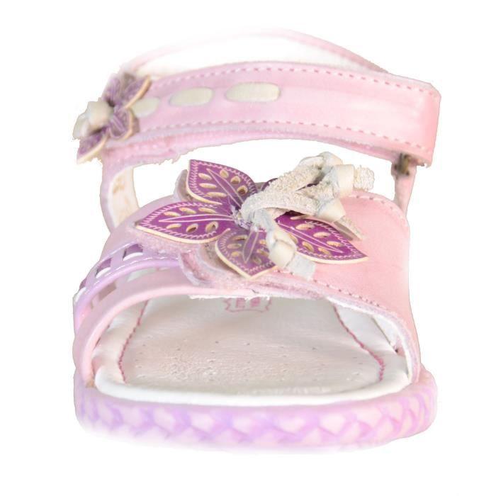 Primigi Sandales Petit Fille Velcro Cuir rosa 61421
