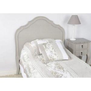 t te de lit bois c rus taupe gris 90cm gamme grand. Black Bedroom Furniture Sets. Home Design Ideas