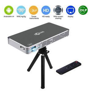 Ensemble home cinéma DLP Mini Projecteur Super PDR Vidéoprojecteur WiFi