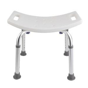 ASSISE BAIN - DOUCHE  Chaise de douche Siège de bain antidérapage en Alu